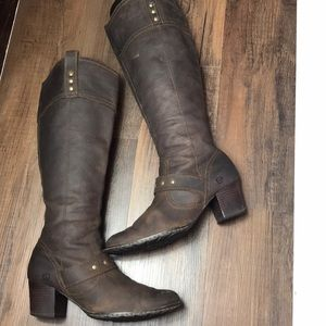 Born Knee High Leather Boots Size 9